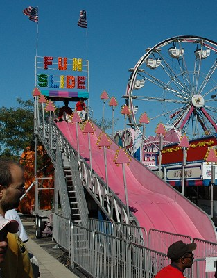 Family fun festivals inc fun slide chicago carnivals rides games food entertainment - The giant slide apartament ...